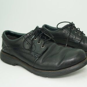 MERRELL Black Lace Up Leather Comfort Dress Shoes
